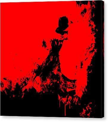 Michael Jackson Paint Splatter 4c Canvas Print