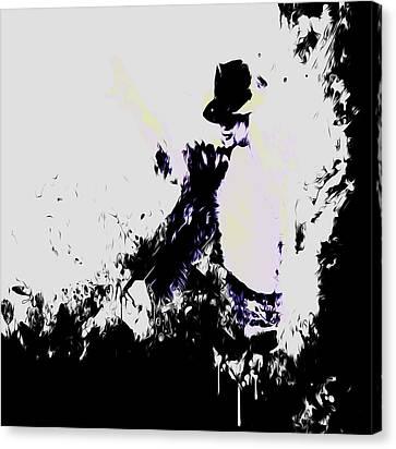 Michael Jackson Paint Splatter 4f Canvas Print