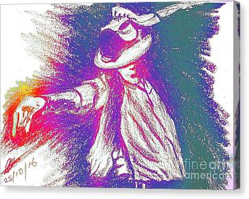Michael Jackson Performance  Canvas Print by Collin A Clarke