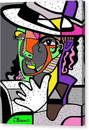 Michael Jackson Poster Canvas Print by C Baum