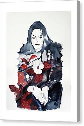 Michael Jackson - Shiny Day Canvas Print by Hitomi Osanai
