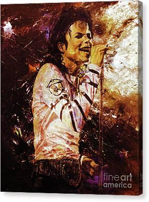 Michael Jackson Singer  Canvas Print by Gull G