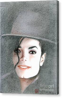 Michael Jackson #sixteen Canvas Print by Eliza Lo