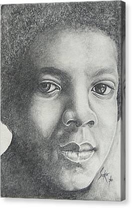 Michael Jackson Canvas Print by Stephen Sookoo