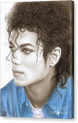 Michael Jackson #ten Canvas Print by Eliza Lo