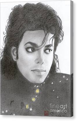 Canvas Print featuring the drawing Michael Jackson #thirteen by Eliza Lo