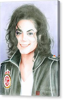Canvas Print featuring the drawing Michael Jackson #twelve by Eliza Lo