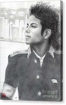 Michael Jackson #twenty-two Canvas Print by Eliza Lo