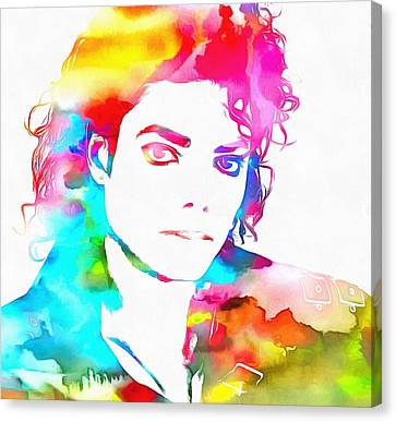 Michael Jackson Watercolor Canvas Print