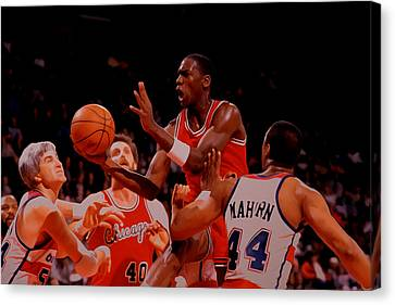 Ewing Canvas Print - Michael Jordan 1984 Rookie Year by Brian Reaves