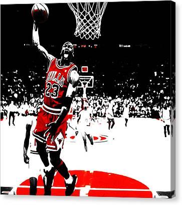 Mj Canvas Print - Michael Jordan 23e by Brian Reaves