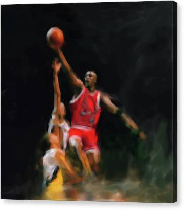 Michael Jordan 548 1 Canvas Print by Mawra Tahreem