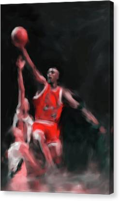 Michael Jordan 548 3 Canvas Print by Mawra Tahreem