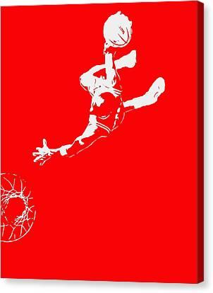 Utah Jazz Canvas Print - Michael Jordan Above The Rim 2 by Brian Reaves