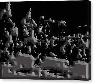 Utah Jazz Canvas Print - Michael Jordan Aluminum Casting 1a by Brian Reaves