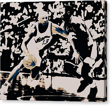 Michael Jordan And Kobe 3c Canvas Print