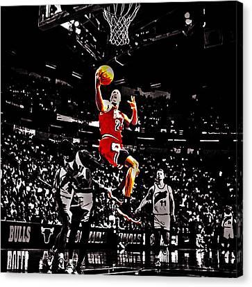 Michael Jordan Caught Them Looking Canvas Print