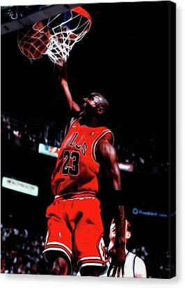 Michael Canvas Print - Michael Jordan Game Point by Brian Reaves
