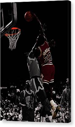 Ewing Canvas Print - Michael Jordan I Rise by Brian Reaves