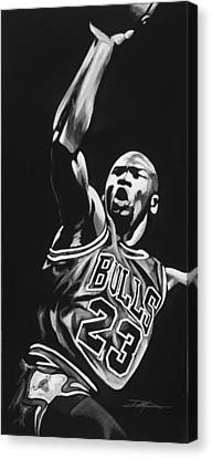 Air Jordan Canvas Print - Michael Jordan  by Don Medina