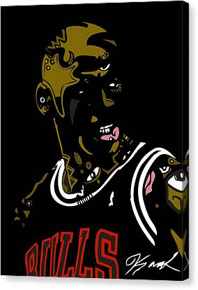 Michael Jordan Canvas Print by Kamoni Khem