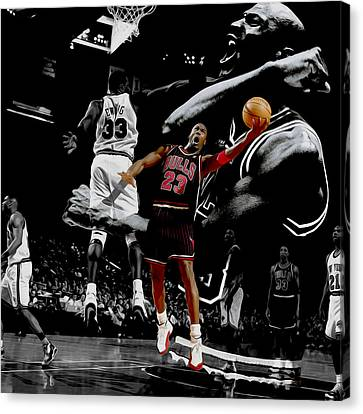 All Star Game Canvas Print - Michael Jordan Left Hand II by Brian Reaves