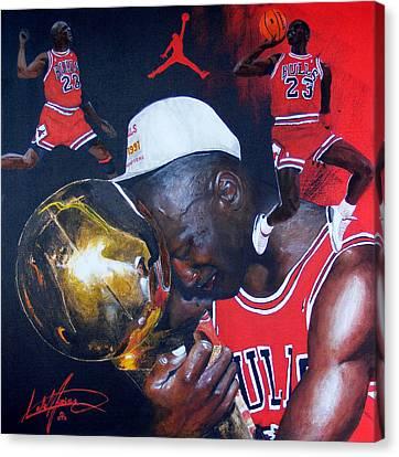 Michael Jordan Canvas Print by Luke Morrison