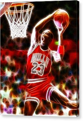 Michael Jordan Magical Dunk Canvas Print