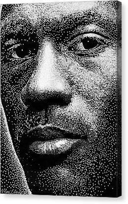 Jordan Canvas Print - Michael Jordan by Max Eberle