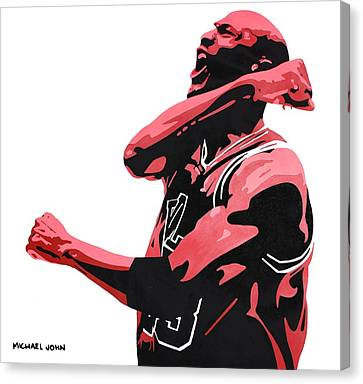 Michael Jordan Canvas Print by Michael Ringwalt