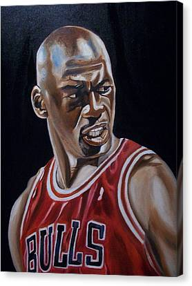 Michael Jordan Canvas Print by Mikayla Ziegler