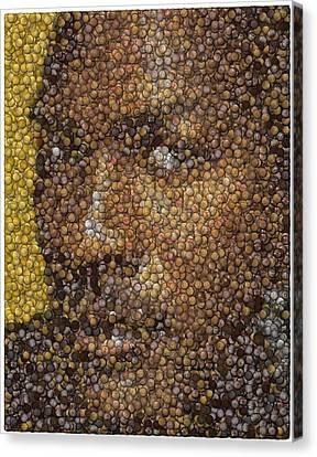 Canvas Print featuring the digital art Michael Jordan Money Mosaic by Paul Van Scott