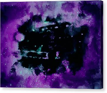 Michael Jordan Nebula Canvas Print by Brian Reaves