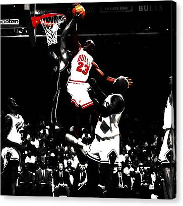 Ewing Canvas Print - Michael Jordan Not In My House by Brian Reaves