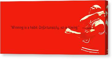 Michael Jordan Quote 1b Canvas Print by Brian Reaves