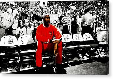 Michael Jordan Ready To Go Canvas Print by Brian Reaves