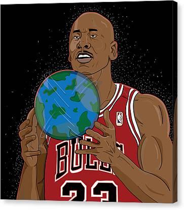 Michael Jordan  Canvas Print by Shaad Huron