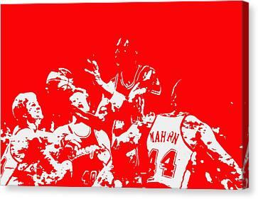 Utah Jazz Canvas Print - Michael Jordan Style And Grace 2 by Brian Reaves