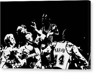 Utah Jazz Canvas Print - Michael Jordan Style And Grace by Brian Reaves