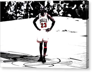 Ewing Canvas Print - Michael Jordan The One Man Show by Brian Reaves