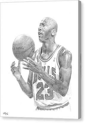 Air Jordan Canvas Print - Michael Jordan by William Pleasant