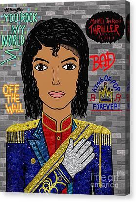 Mj Canvas Print - Michael Joseph Jackson  by Mallory Blake