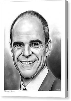 Michael Kelly Canvas Print by Greg Joens
