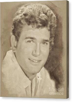 Michael Landon, Vintage Actor By John Springfield Canvas Print