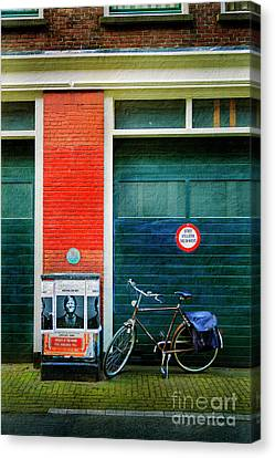 Canvas Print featuring the photograph Michel De Hey Bicycle by Craig J Satterlee