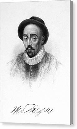Michel Eyquem De Montaigne Canvas Print by Granger