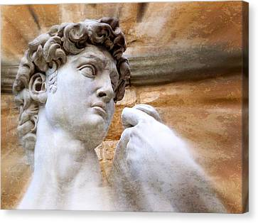 Statue Of David Canvas Print - Michelangelo's David 2  by Jen White