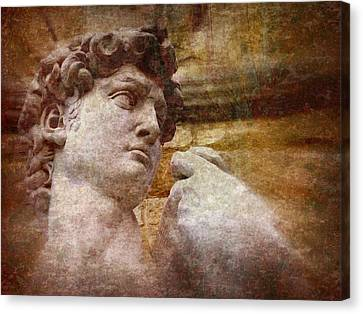 Statue Of David Canvas Print - Michelangelo's David by Jen White