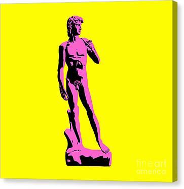 Michelangelos David - Punk Style Canvas Print by Pixel Chimp