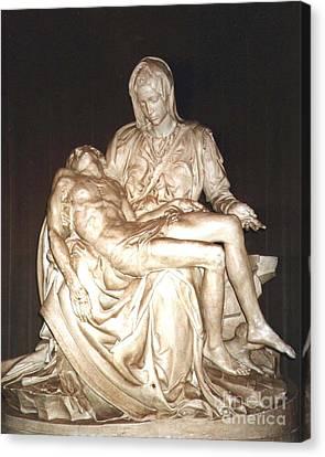 Michelangelo's First Pieta  Canvas Print by Merton Allen